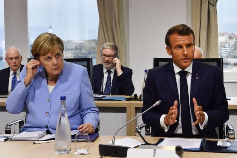 Angela Merkel and Emmanuel Macron (Photo: Getty)