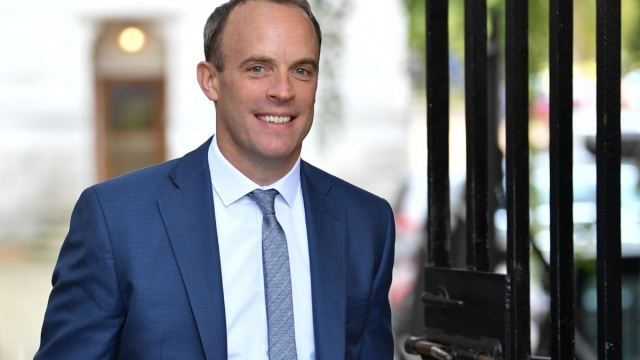 Britain's Foreign Secretary and First Secretary of State Dominic Raab arrives at 10 Downing Street on 5 September 2019 (AFP/Getty Images)