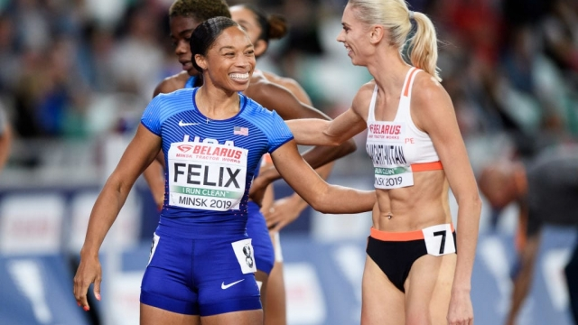 Allyson Felix is eyeing a 13th gold medal at the IAAF World Championships