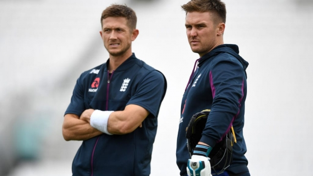 Despite Joe Root's encouraging words, Jason Roy, pictured with Joe Denly, faces a long road back