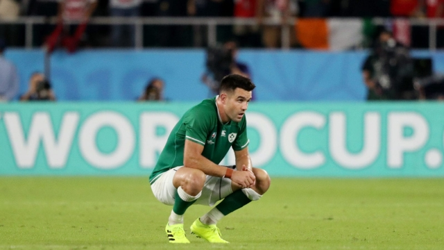 Conor Murray of Ireland reacts following defeat to Japan in the Rugby World Cup 2019 (Getty Images)