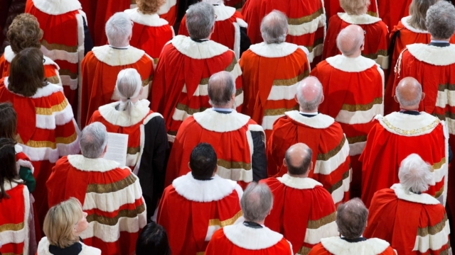 Members of the House of Lords at the State Opening of Parliament in 2016