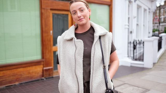 Jemma Finch rents clothes after only buying from sustainable brands or buying second hand (Photo: Cleo Glover)