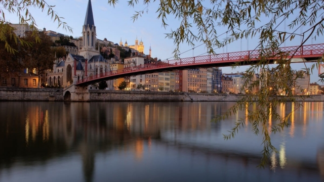 Article thumbnail: Lyon's waterfront offers beautiful views on a weekend break in France