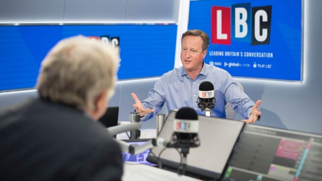 David Cameron answers questions from LBC's Nick Ferrari