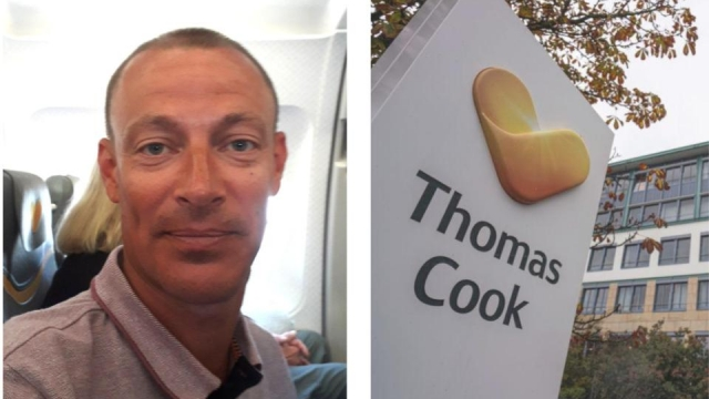 Passenger Peter Pullen was involved in a whip round for Thomas Cook crew on a flight from Spain (Photo: left, Peter Pullin, right, Frank Rumpenhorst/AFP/Getty Images)