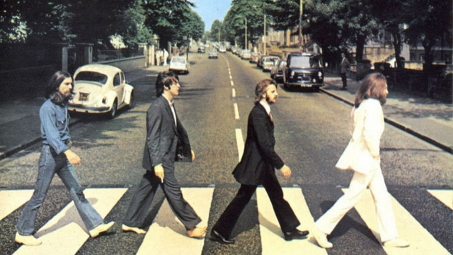 Iconic shot of the Beatles on Abbey Road, as we discuss the secret to some of our biggest pop hits