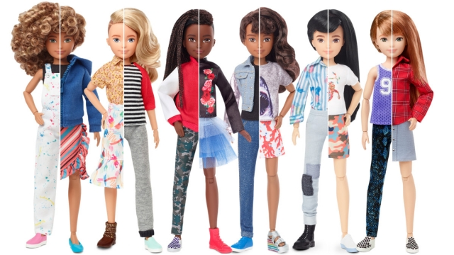 The Creatable World dolls can be given either short or long hair, unlike Mattel stalwart Barbie