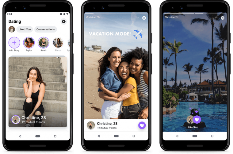 How Facebook and Instagram Stories may appear in the final Facebook Dating interface (Photo: Facebook)