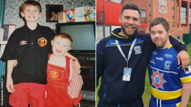 Craig and his brother Oliver Thomason have watched sport, including rugby and football, together from a young age