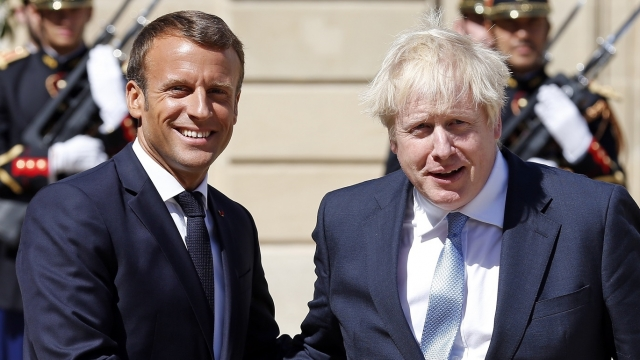 French President Emmanuel Macron delivered a blow to Boris Johnson's Brexit deal