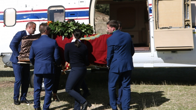 The remains of General Francisco Franco have been transferred from a grandiose mausoleum outside Madrid to a small family crypt