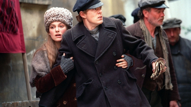 Keira Knightley and Kris Marshall in ITV's Doctor Zhivago (Photo: Granada)