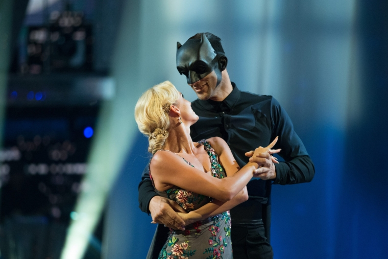 Nadiya Bychkova dances with David James during movie week