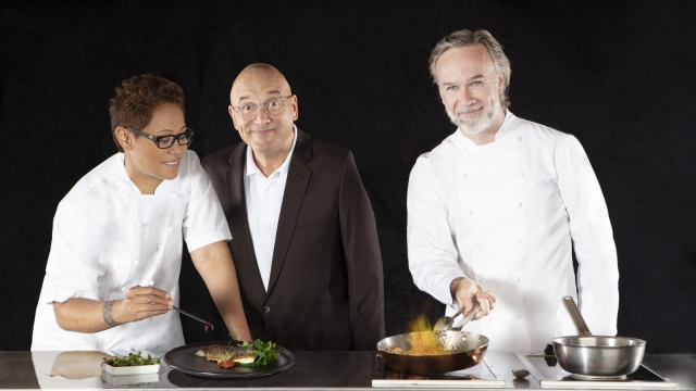 Judges Monica Galetti, Gregg Wallace, Marcus Wareing