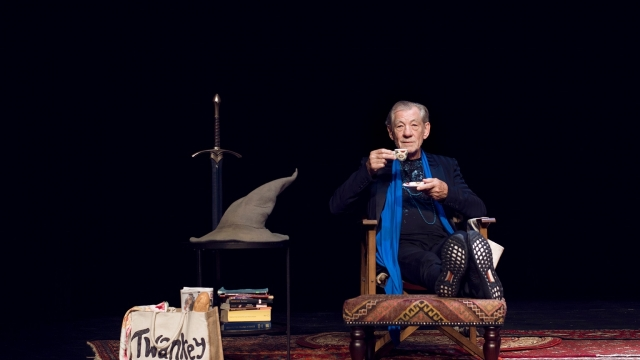 Ian McKellen presented highlights of his 80 years, from Shakespeare to Coronation Street. Photo: Frederic Aranda