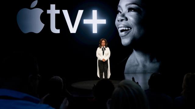 Oprah Winfrey at the Apple TV+ launch