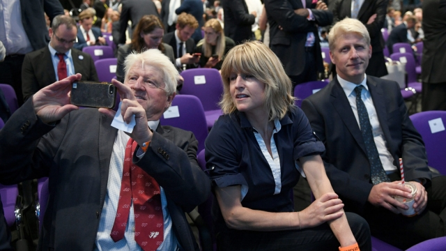 Stanely Johnson (L), Rachel Johnson (C) and Conservative MP Jo Johnson (R), father, sister and brother of Boris Johnson (Photo: STEFAN ROUSSEAU/AFP/Getty Images)
