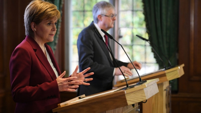 Nicola Sturgeon and Mark Drakeford are united in their opposition to the new Brexit deal (Photo: Getty)