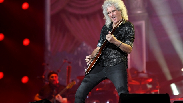 Brian May performs in September but the group won't be going to Glastonbury (Photo: Noam Galai/Getty Images for Global Citizen)