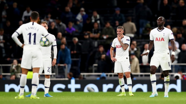 Toby Alderweireld and co show their disappointment after another goal goes in