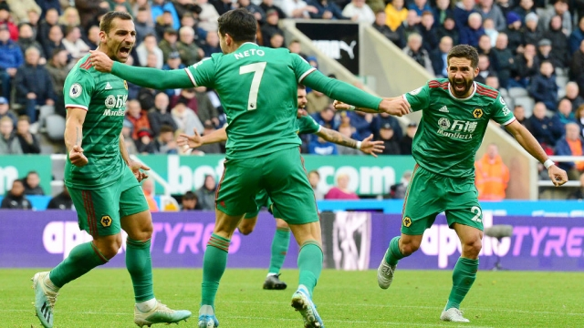 Jonny Otto of Wolverhampton Wanderers celebrates after he scores his sides first goal (Getty Images)