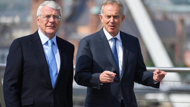 Sir John Major and Tony Blair issued a warning about the impact on Northern Ireland