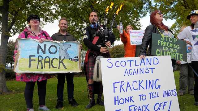 The prospect of fracking in Scotland has prompted protests (Photo: Getty)