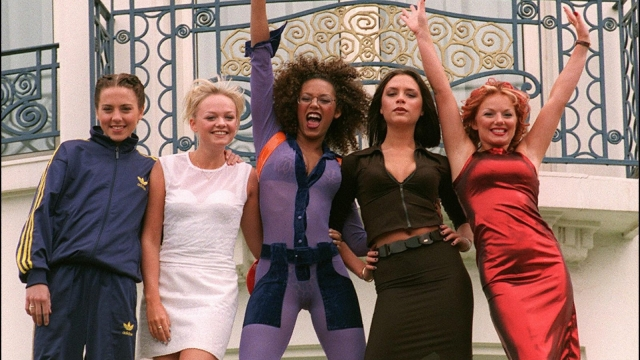 Vile to each other, vile to hair and make-up: the Spice Girls in Cannes in 1997. Photo: Bertrand Guay/ Getty