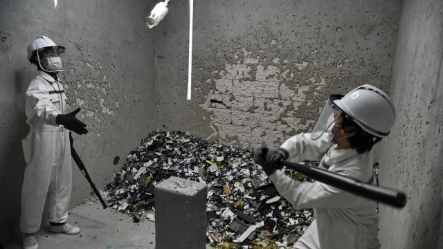 Rage rooms originated in Japan but are now popular all over the world (Photo: ROSLAN RAHMAN/AFP/Getty Images)
