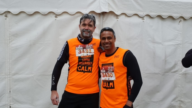 Reece Clive (left), has raised more than £40,000 for charity since his son's death (Photo: Reece Clive)