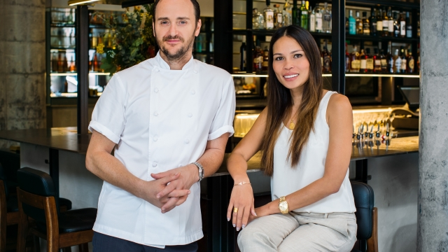 Jason Atherton and hsi wife Irha (Photo: Sauce Communications)