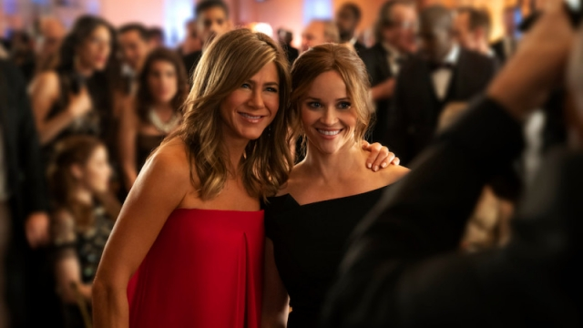 Jennifer Aniston and Reese Witherspoon in The Morning Show on Apple TV+