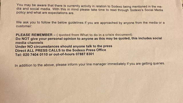 The letter circulated among team members warning them to keep schtum (Photo: Supplied by confidential source)