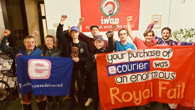 Ecourier workers, who are a subsidiary of Royal Mail, are striking today (Photo: Ecourier)