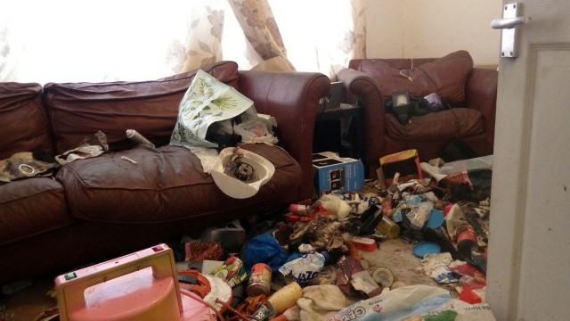 RSPCA image of filthy home
