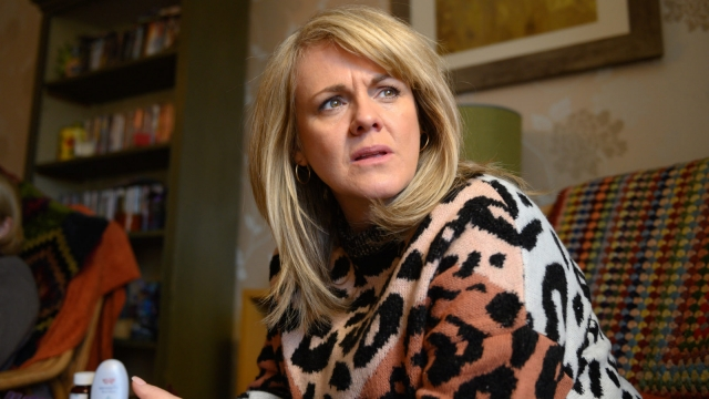 Sally Lindsay as June in Cold Call on Channel 5