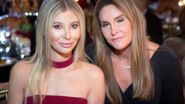 """Sophia Hutchins and Caitlyn Jenner attend the Face Forward's 10th Annual """"La Dolce Vita"""" Themed Gala at the Beverly Wilshire Four Seasons Hotel"""