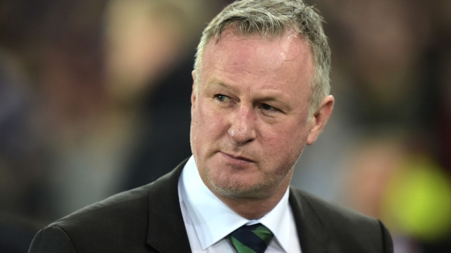 Michael O'Neill, Manager of Northern Ireland at Windsor Park on 21 March 2019 in Belfast (Getty Images)