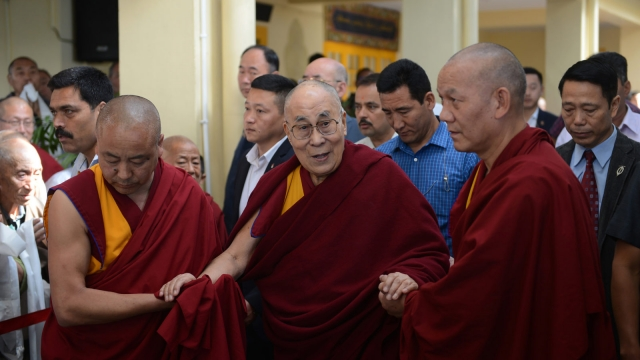 The Dalai Lama says it is a matter to be decided by the Tibetan people