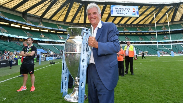 Nigel Wray, Chairman of Saracens, celebrates with the trophy following the Gallagher Premiership Rugby Final on 1 June 2019 (Getty Images)