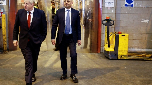 Prime Minister Boris Johnson Chancellor of the Exchequer Sajid Javid visit Bestway Wholesale in Manchester (Photo: HENRY NICHOLLS/AFP via Getty Images)