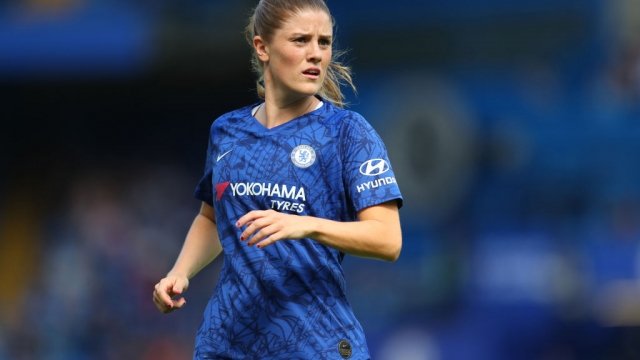 Maren Mjelde of Chelsea during the Barclays FA Women's Super League match on 8 September 2019 (Getty Images)