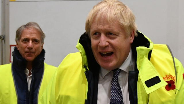 Boris Johnson with Iceland boss Malcolm Walker, a Conservative donor