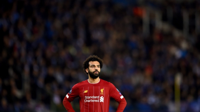 Mohamed Salah of Liverpool on 23 October 2019 in Genk, Belgium (Liverpool FC via Getty Images)