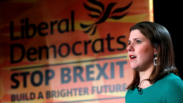 Liberal Democrats leader Jo Swinson speaks during the launch of the Liberal Democrats general election manifesto in central London (Photo by ADRIAN DENNIS/AFP via Getty Images)