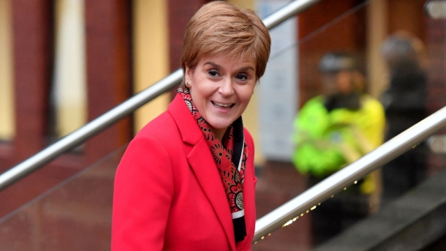 Nicola Sturgeon said Trident must go if the SNP is to support Labour (Photo: Getty)