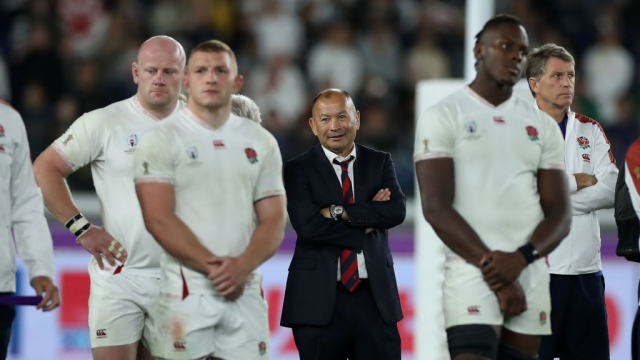 Eddie Jones, the England head coach, looks on after their defeat in the Rugby World Cup 2019 final to South Africa (Getty Images)