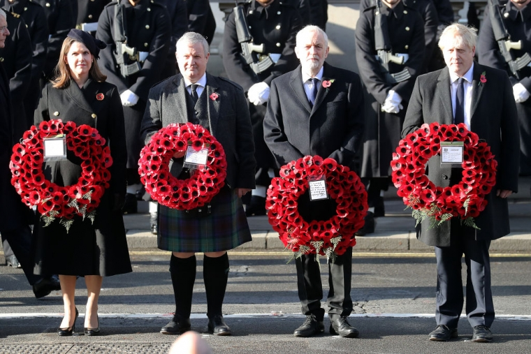 Political party leaders have traditionally marked Remembrance Sunday at the Cenotaph (Photo: Chris Jackson/Getty Images)
