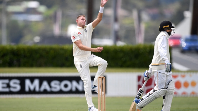 Stuart Broad of England bowls at Cobham Oval on 13 November 2019 in Whangarei, New Zealand (Getty Images)